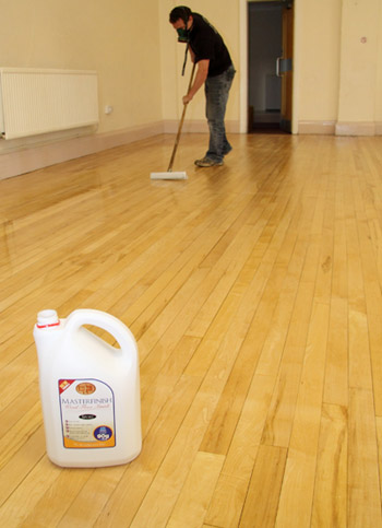 Resealing wood floor